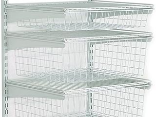 Closet Maid 17 in  D x 21 in  W x 27 in  H ShelfTrack 4 Drawer Kit Steel Closet System in White   MSRP  73 84