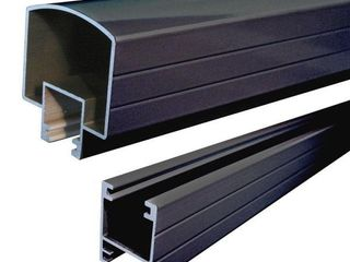 Peak Aluminum Railing 6 ft  Black Aluminum Hand and Base Rail   MSRP  69 27