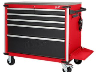 Milwaukee 40 6 Drawer Mobile Work Station w  Stainless Steel Top   MSRP  699 00