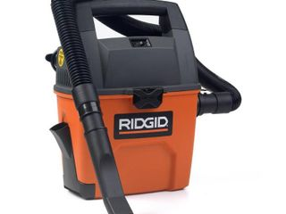 RIGID 3 Gal  3 5 Peak HP Portable Wet Dry Shop Vacuum with Built in Dust Pan  Filter  Expandable Hose and Car Nozzle   MSRP  59 99