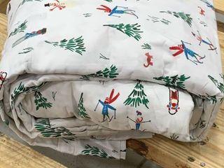 White Winter Sheet Set  Target Brand  Size Full  needs washed