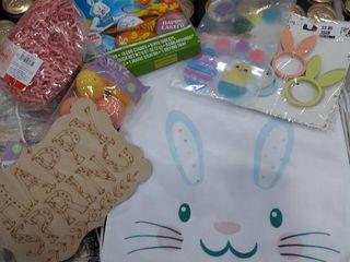 Stuffed Easter Bag 2 Bags  Eggs  Grass  Window Clings  Napkin Rings  happy easter sign  egg dying kit