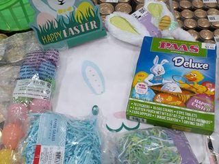 Stuffed Easter Bag  2 Bags  Egg Dying Kit  Bunny Ears  Grass  Eggs  Easter Sign
