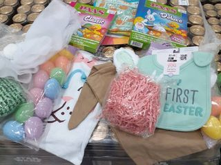 2 Stuffed Easter Bags  Egg Dying Kits  My First Easter Book and Bib  Bunny Ears   Eggs  Grass  Tutu