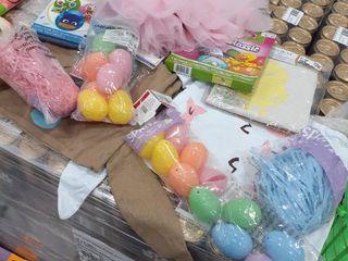2 Stuffed Easter Bags  Eggs  Grass  Tutu and Headband  Egg Dying Kits