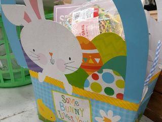 Medium Filled Easter Gift Bag  Chalk  Stationary Kit  Eggs  Grass  Happy Easter Sign  Window Clings  Pom Pom Chick Kit