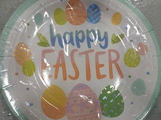 Easter Plates  Napkins and forks