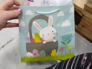 Small Filled Easter Bag Tie Dye Bunny  Tutu and headband  Decorative Egg  Drawstring Bag