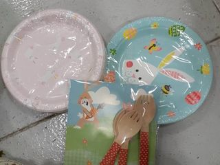 Easter Plates and Forks