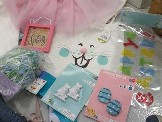 Easter filled Bag  Tutu and Headband  Spring Sign  Grass  Window Cling  Grow Eggs and Bunnies  Socks