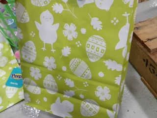 Easter Gift Bag with Eggs  Grass  and Easter Decor