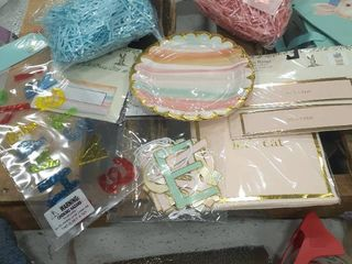 Easter lot Plates  Napkins Napkin Rings  Place Cards  Grass  Window Clings  Banner