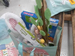 Easter lot  Egg Tree  Egg Dying Kit  Headband and Tutu with Tail