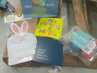 Easter Gift Bag  Chalk  Napkins  Decor Sign  Marker Pocket