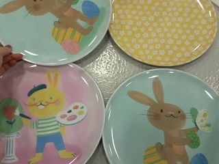 Four Easter Plates