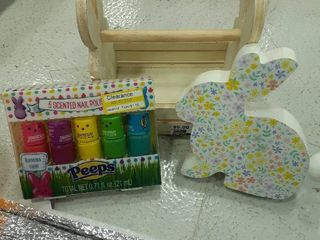 Easter lot  Scented Peeps Nail Polish  Bunny Decor  Bunny Crate