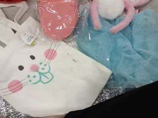 Easter Bag with Banner  Bunny Ears  and Tutu