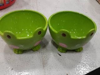 2 Frog Candy Dishes