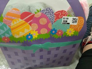 Easter Gift Bag with Bunny  Bunny Ears and Tutu