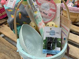 light Blue   Tan Adult Basket