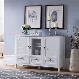 Kings Brand Furniture Console Table with 3 Drawers
