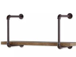 Wall Mounted Rustic Shelf Display w  Storage
