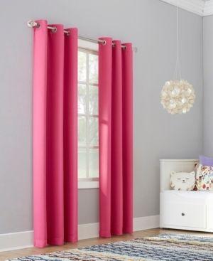 Riley Kids Bedroom Blackout Grommet Top Curtain Panels Set of 2