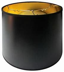 Black Parchment Gold lined lamp Shade