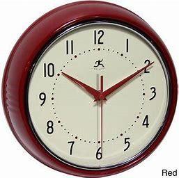 Infinity Round Retro 9 5in Kitchen Vintage Clock