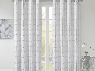 Intelligent Design Khloe Total Blackout Metallic Print Grommet Top Curtain Panels Set of 2