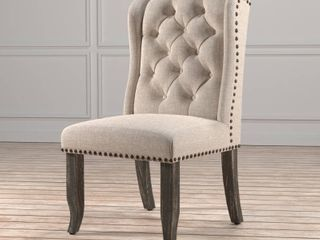 Furniture Of America Tufted Wingback Dining Chairs Set of 2