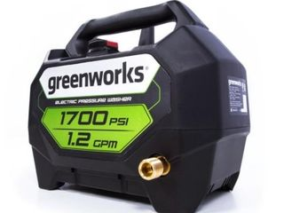 Greenworks 1700psi 1 2GPM Portable Electric Pressure Washer