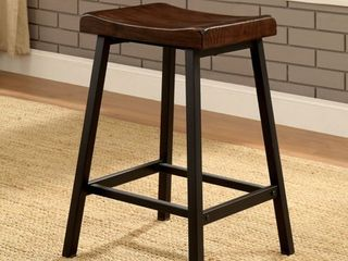 Furniture of America Hollenbeck Rustic Counter Height Stools   Set of 2
