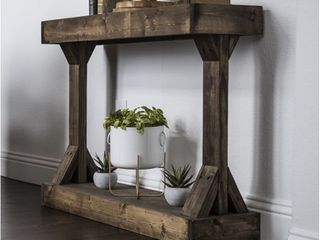 Del Hudson Designs Barb Small Console Table Solid Wood