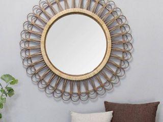 Carson Carrington Talliden Round Rattan Mirror