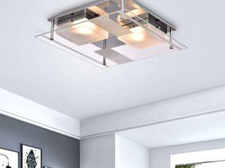 lucia Chrome 2 light Square Flush Mount Ceiling light