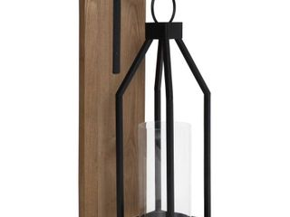 Kate and laurel Oakly Wood and Metal Wall Sconce Candle Holder