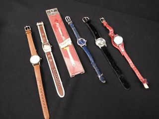 5 women s wristwatches and one twist  on watch band