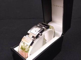 Vernier 1870 floral women s wristwatch