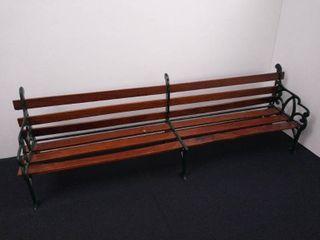 Small Wood   Metal Teddy Bear Bench   25 in W