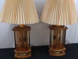 Two matching Vintage lamps   31 1 2 in H