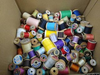 lot of various spools of thread