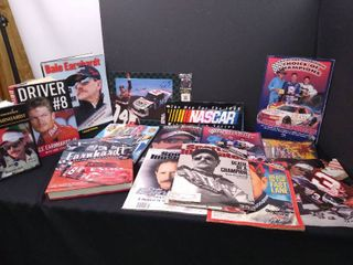 lot of 12 assorted books and magazines about Dale Earnhardt a Nascar driver