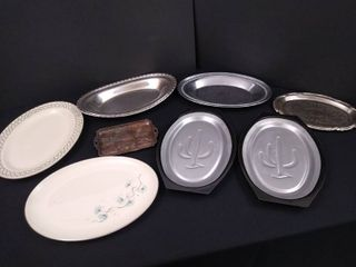 lot of 8 assorted oblong trays