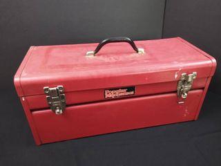 Popular Mechanics tool box W  tools   8 in H X 20 in W x 8 1 2 in D