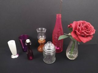 lot of 7 assorted pieces of home decor