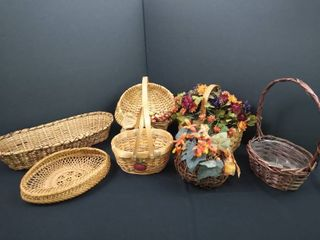 lot of 7 assorted baskets  various sizes
