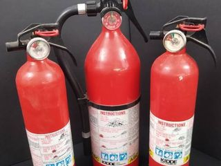 lot of 3 fire extinguishers