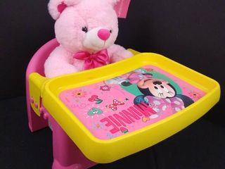 Minnie mouse baby seat with table