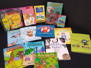 lot of assorted children s games and books including Go fish  Color bunch and Opposites